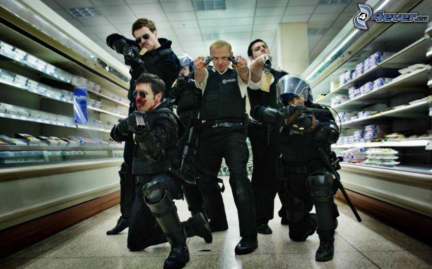Hot Fuzz, poliziotti