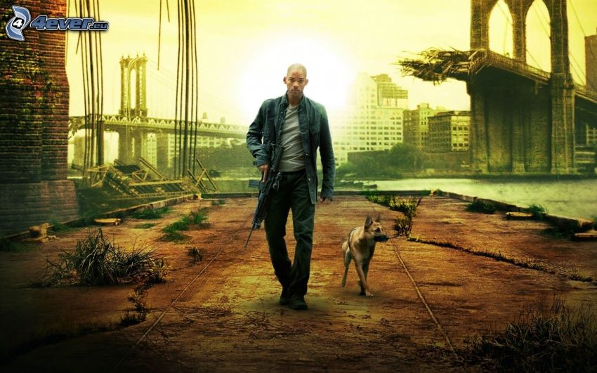 Io sono leggenda, Will Smith, arma, pastore tedesco