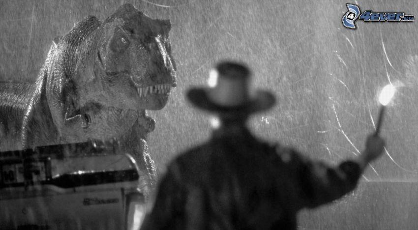 Jurassic Park, bianco e nero