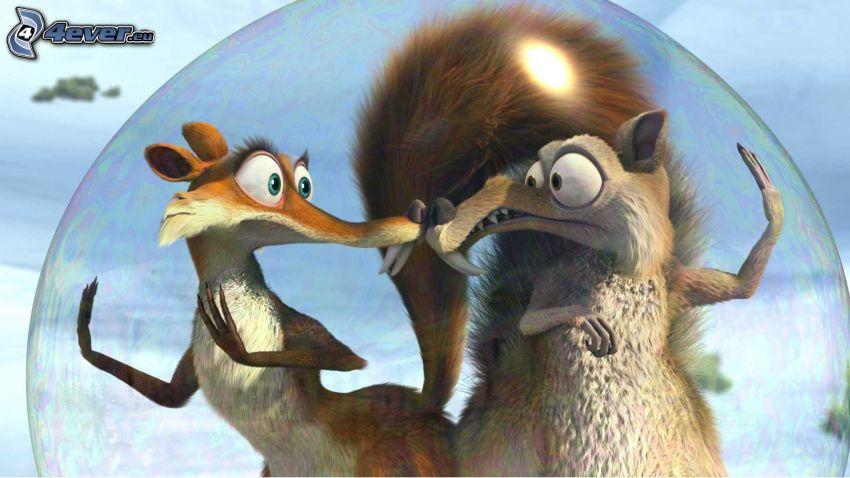L'era glaciale, scoiattoli