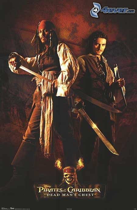 Pirati dei Caraibi, Jack Sparrow, Will Turner