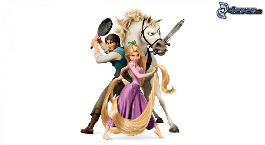 Rapunzel - L'intreccio della torre, Fiaba, personaggi dei cartoni animati