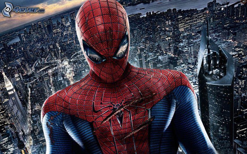 Spiderman, vista della città