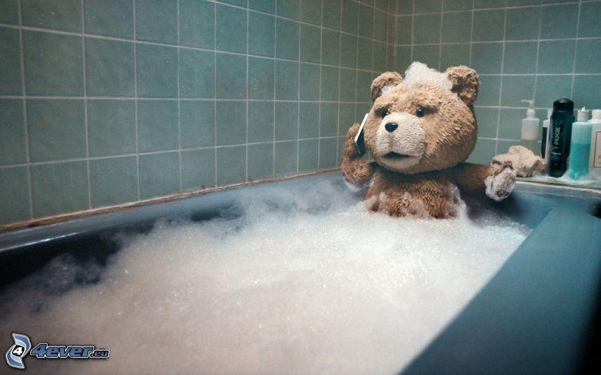 Ted, schiuma, bagno