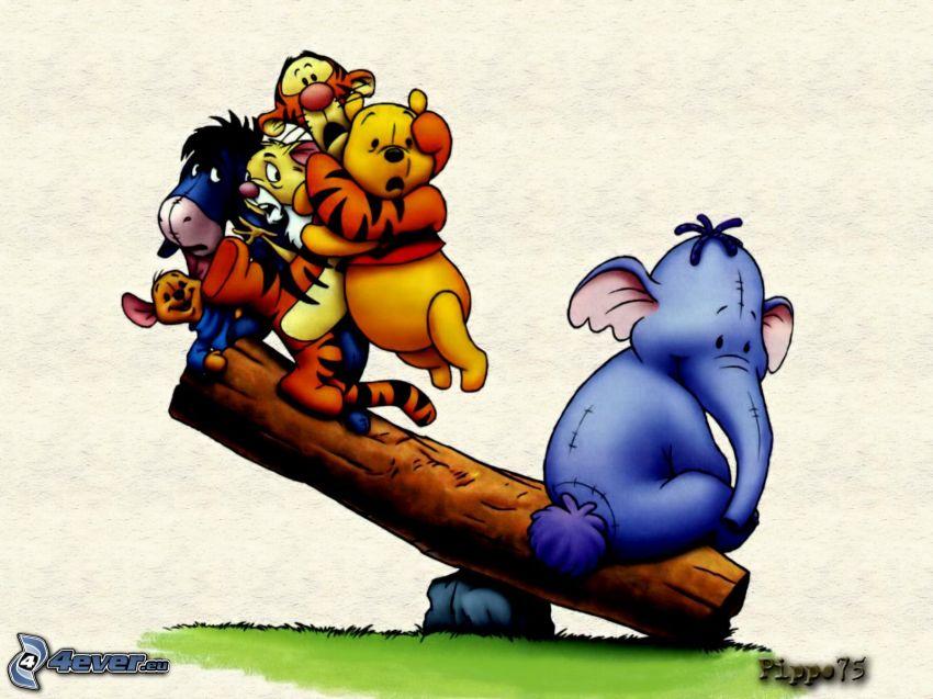 Winnie the Pooh e gli amici, altalena