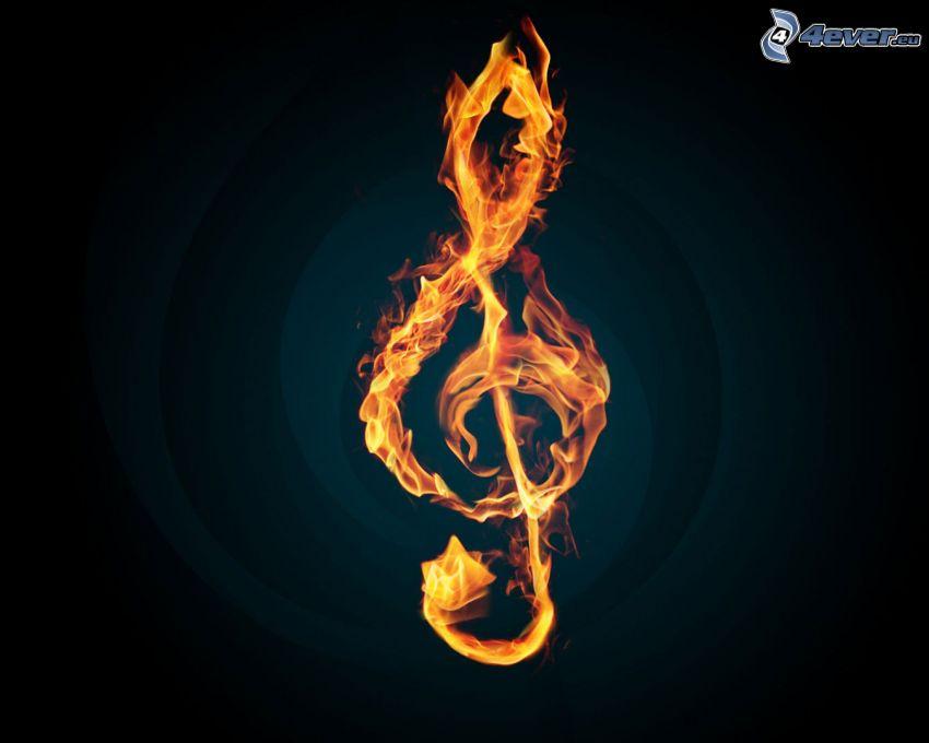 chiave di violino, fuoco