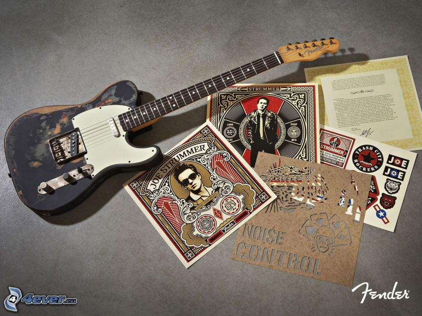 chitarra elettrica, poster