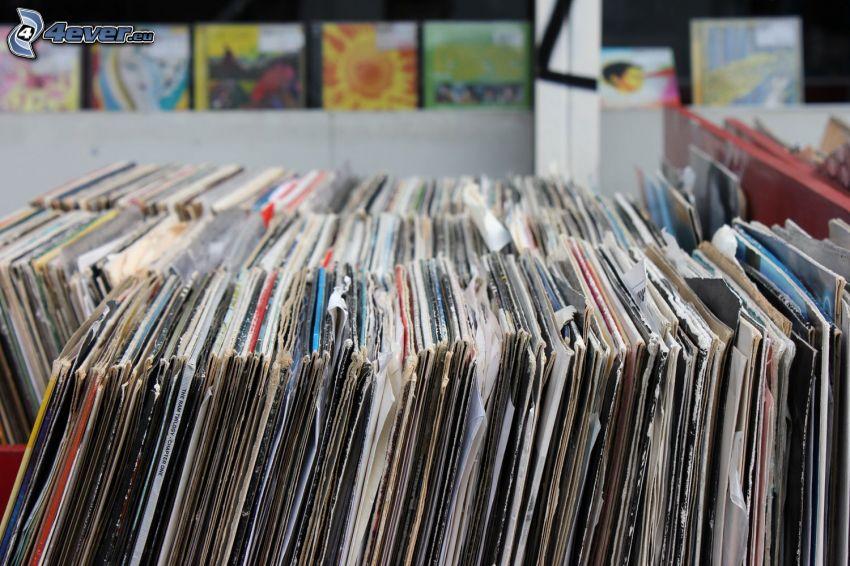dischi di grammofono, immagini