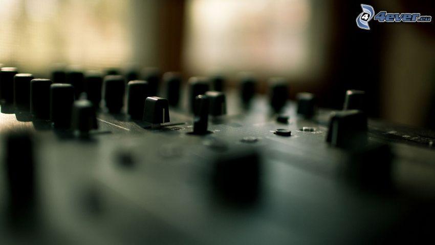 DJ console, pulsanti