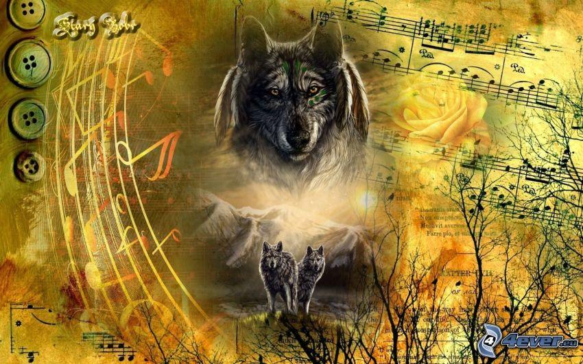 lupi dipinti, note