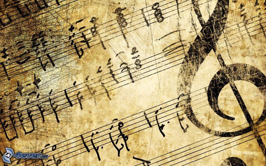 note, chiave di violino