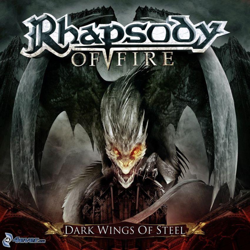 Rhapsody of Fire, Dark Wings of Steel, testa di drago, ali