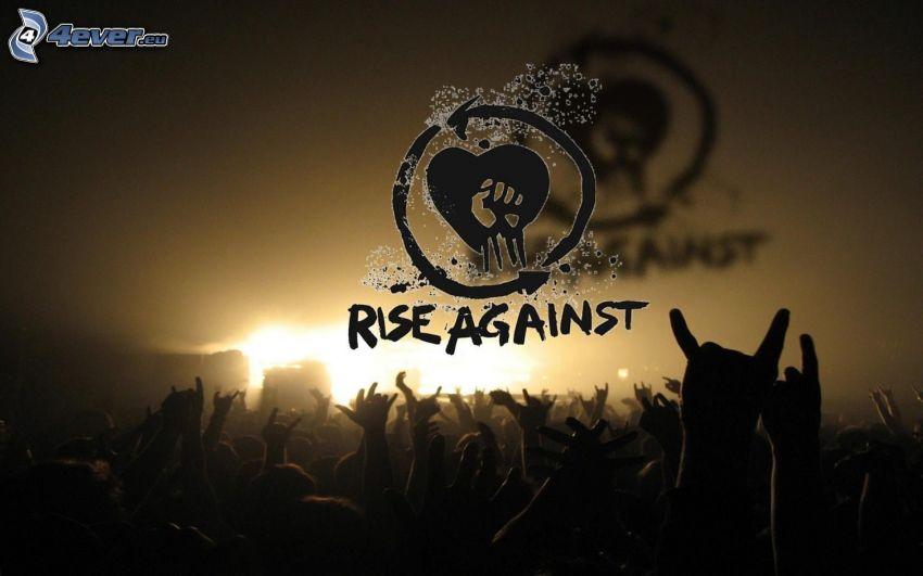 Rise Against, concerto, logo
