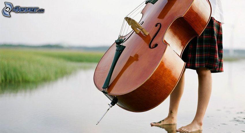 violoncello, ragazza