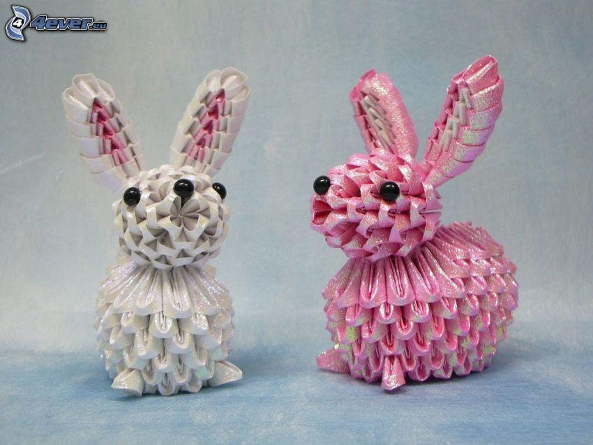 origami, conigli