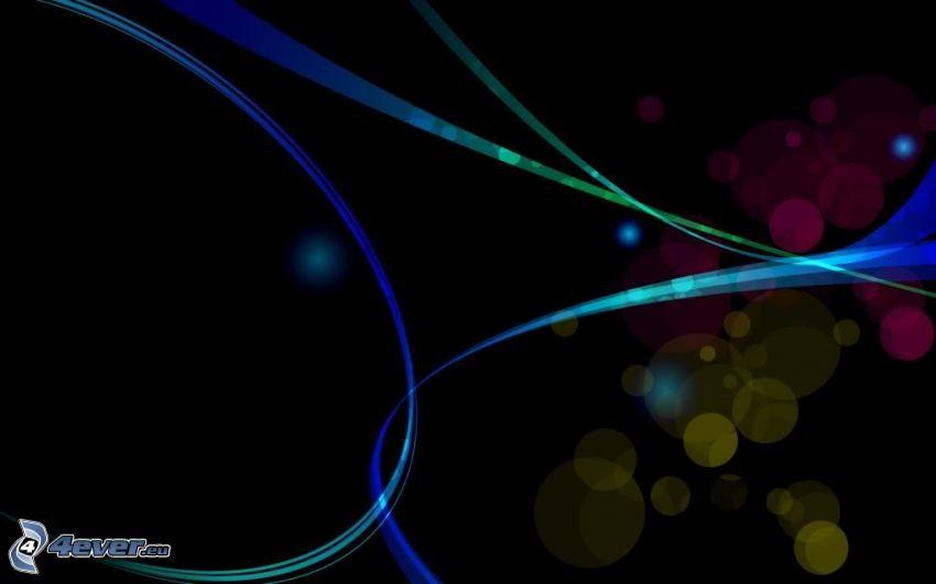 cerchi, linee colorate