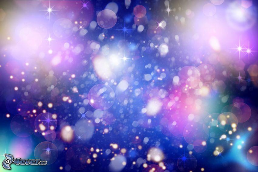 cerchi, luci, sfondo colorato