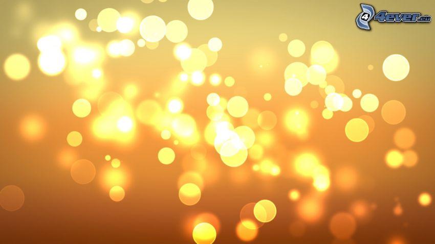 cerchi, sfondo arancione