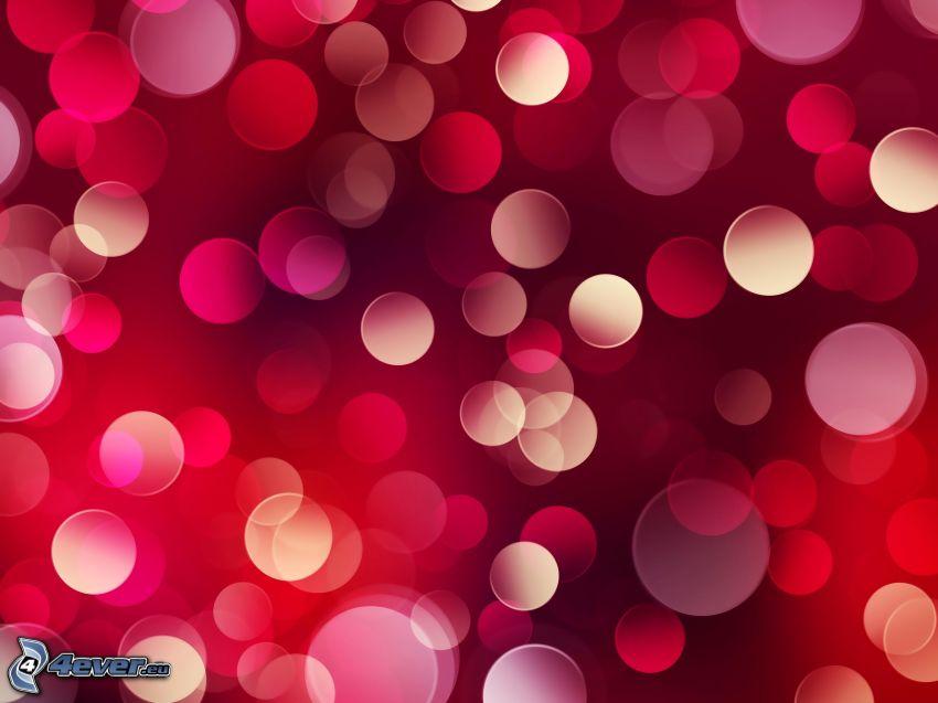 cerchi, sfondo rosso