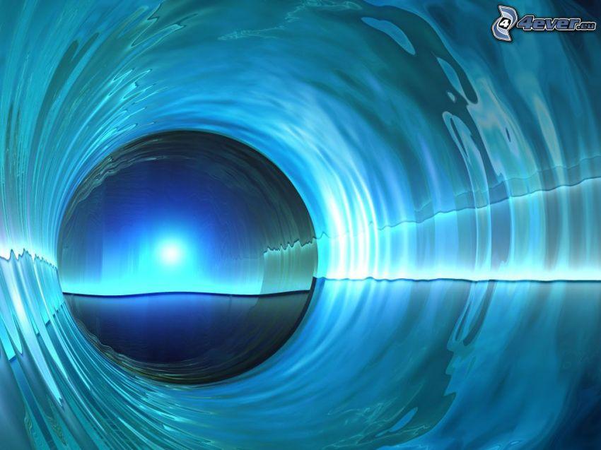 cerchio, finestra, tunnel