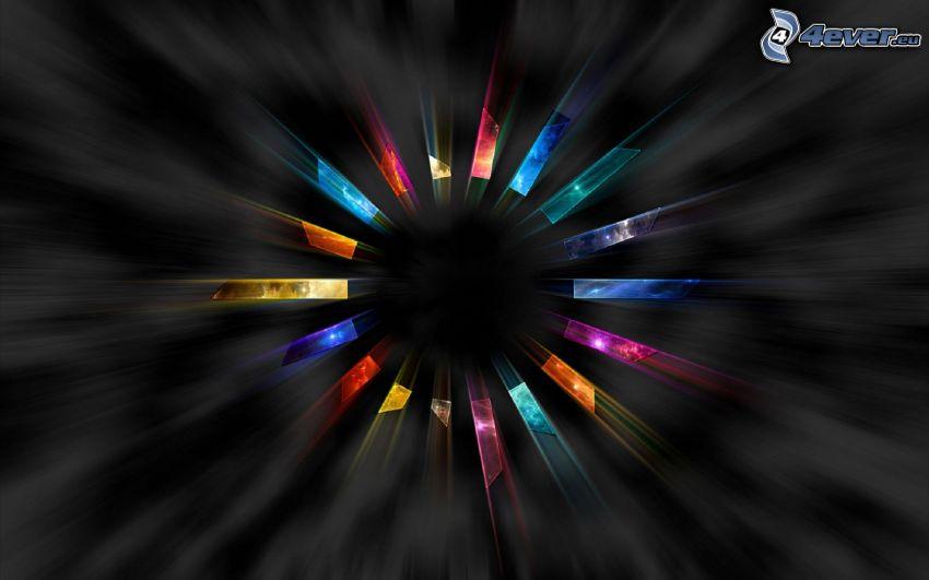 cerchio, strisce colorate