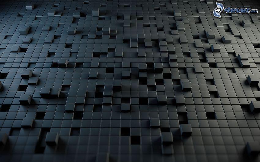 cubi, sfondo grigio