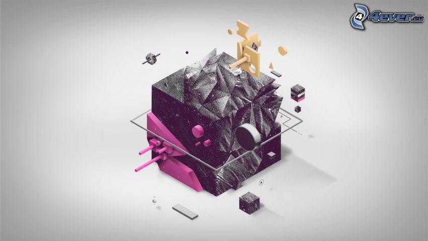 cubo, astratto