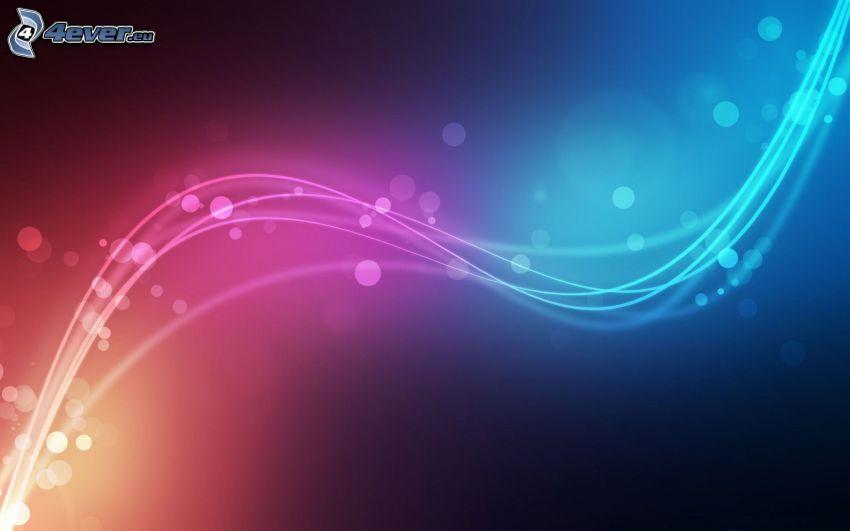 linee bianche, cerchi, sfondo colorato