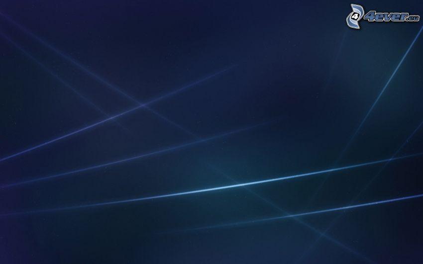 linee bianche, sfondo blu