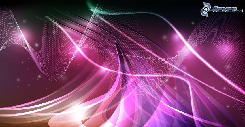 linee bianche, sfondo rosa