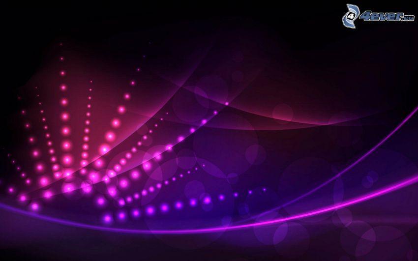 linee rosa, cerchi, sfondo rosa