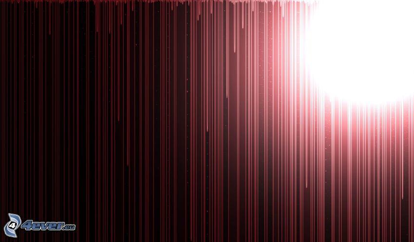 linee rosse, luce