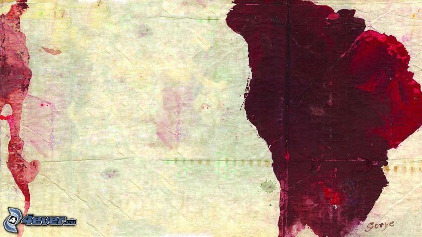 macchie, rosso, sangue