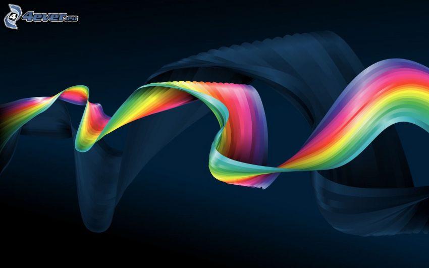 nastro, strisce colorate, colori di arcobaleno