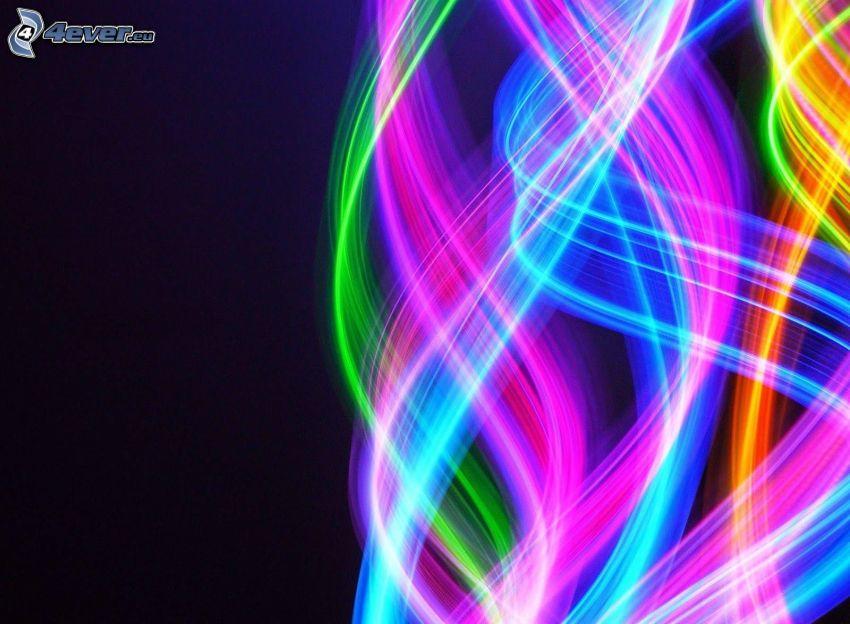 neon, sfondo colorato