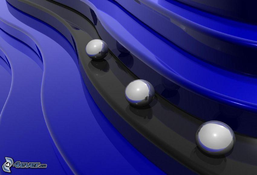 palle metalliche, scale