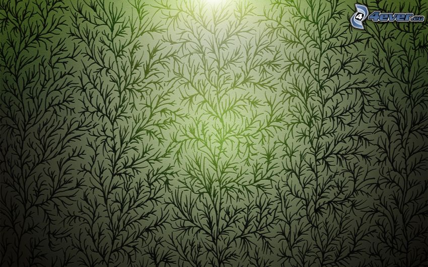 sfondo verde, piante, carta da parati