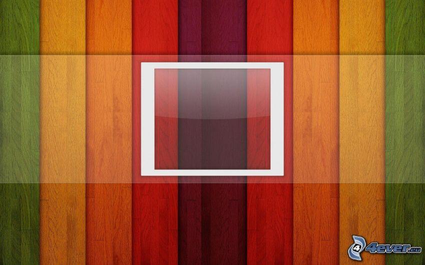 strisce colorate, quadrato