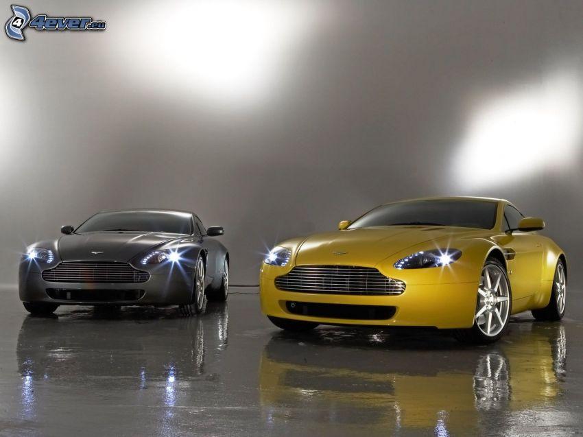 Aston Martin V8 Vantage, luci