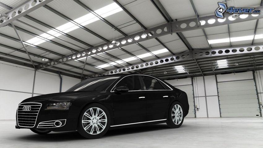 Audi A8, garage