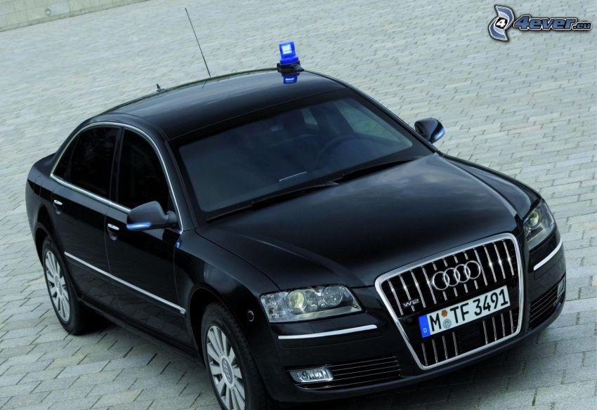 Audi A8 W12, polizia, piastrelle