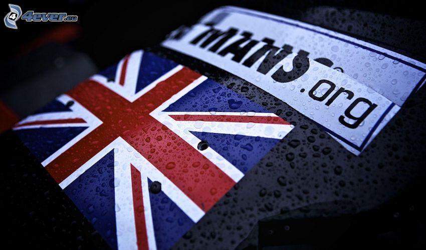 Bandiera inglese, gocce d'acqua
