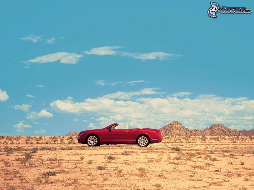 Bentley, cabriolet, deserto