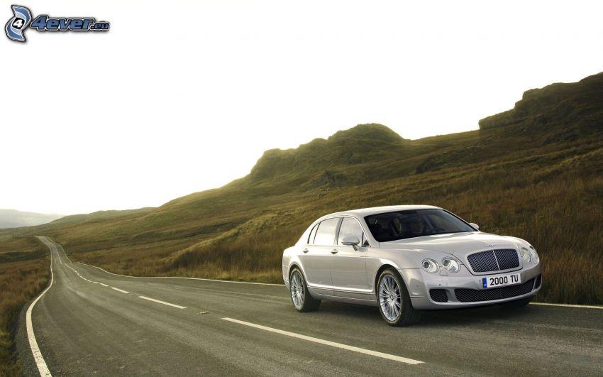 Bentley Continental, strada, collina