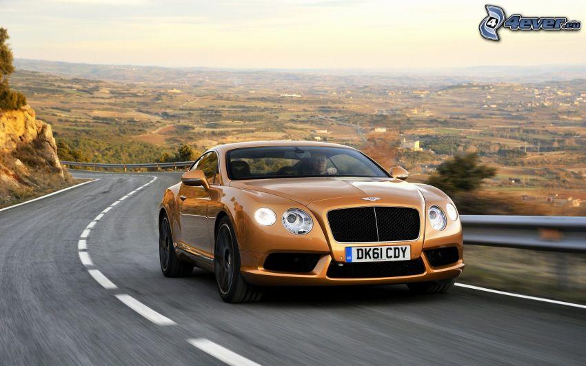 Bentley Continental GT, velocità, strada