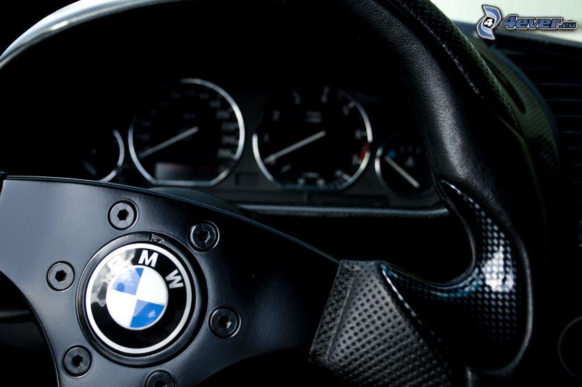 BMW, volante, logo