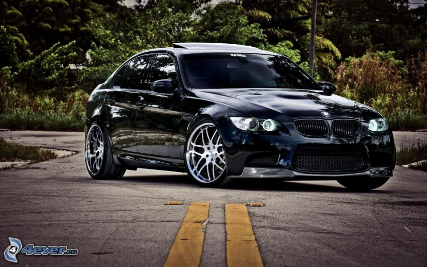 BMW 3, strada, HDR