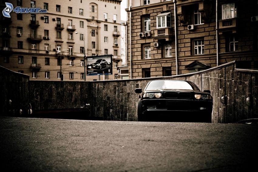 BMW 7, strada, edifici