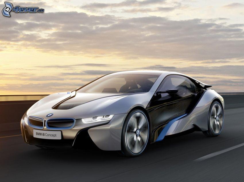 BMW i8, concetto, auto elettrica