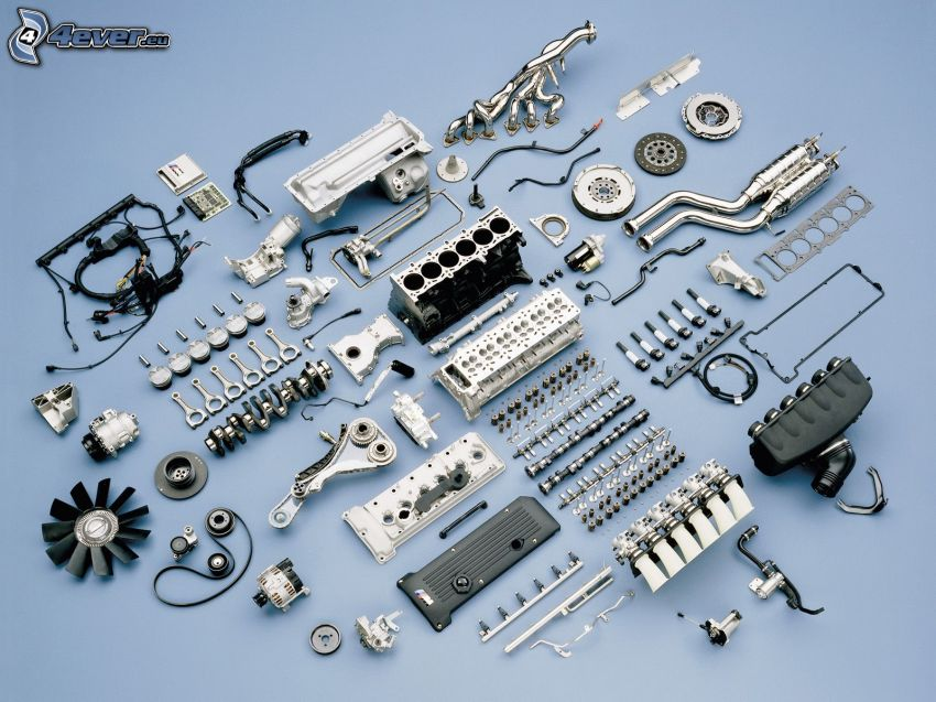 BMW M3, componenti, motore